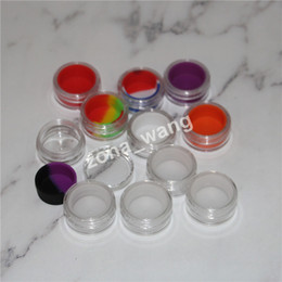 Wholesale M Container - Cosmetic acrylic jar 5ml plastic wax container silicone liner clear eco-friendly plastic shatter resistant oil container nail polish storage