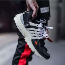 Wholesale Floor Borders - With BOX New The Ten Off x Air Presto Virgil Abloh Men Women Casual Running shoes Outdoor White Sport Shoes size 5.5-11