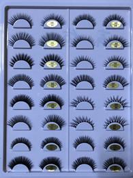 synthetic false eyelashes Australia - New Arrivals 45 Models Synthetic Hair False Eyelashes Natural Thick Long Soft Eye Lashes High Clone 3D Mink Eyelashes Private Logo