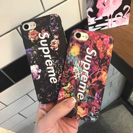beliebte handy-marken Rabatt Für Iphone X Phone Cases Trend Marke Mode Blumen Beliebte PC Hartmatt Handy Fall Für Iphone 6 7 8 Plus
