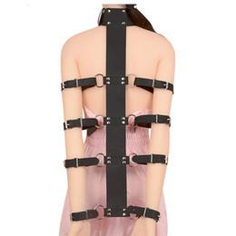 tiendas de sexo Rebajas Bdsm Bondage Toys Slave Fetish Leather Bondage Restraint Collar Gear Herramienta del sexo para la venta Juguetes sexuales para parejas Comprar