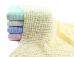 Presentes do banho de chuveiro de bebê on-line-Toalha de banho de algodão de musselina para presente de chá de bebê, absorvente de água super antibacteriano natural, super macio e quente para cobertor de bebê, banho de bebê