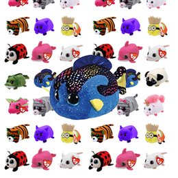 2019 большая свинья игрушка 10CM Mini teeny tys Ty Plush Toys Beanie Boos Big Eyes  Pocket TSUM Candy pig Stuffed Doll Pink Owl TY Baby Kids Gift дешево большая свинья игрушка