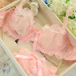Wholesale lace bras panties - intimates bra set Sexy Lace Underwear Push Up brassiere Lingerie victoria Transparent Bralette Women Bra Panties Set