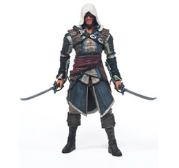assassins creed toys Promo Codes - Eco-Friendly Assassins Creed 4 Black Flag Connor Haytham Kenway Edward Kenway Pvc Action Figure Toys Hidden Blade