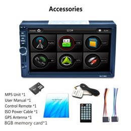 Wholesale Gps Sd Navigation Card - car dvr 7 inch navigation MP5 dual car Bluetooth MP5 player GPS navigation reversing image RK-A7156G