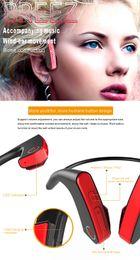 Wholesale Good Bass - E1 Bone Conduction Headset Wireless Bluetooth Outdoor Sports bass Headphone good durable high quality sports gym earphones running