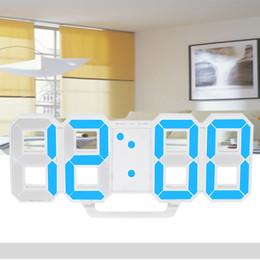 большие желтые часы Скидка Многофункциональный светодиодный цифровой настенные часы 12H / 24H время дисплей будильник с функцией повтора регулируемая яркость