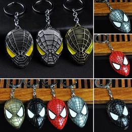 Argentina Superhéroe Spiderman Máscara Colgante Llavero de Aleación de Zinc Hombre Araña de Metal Hombre Araña Llavero llavero para Hombres Mujeres Regalo de Navidad Suministro