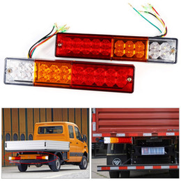 Wholesale Led Universal Truck Tail Lights - 2pcs Trailer lights LED Stop Rear Tail Brake Reverse Light Turn Indiactor led 12V 24V ATV Truck led Trailer taillights Lamp