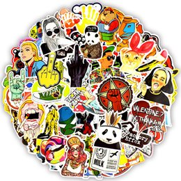 Wholesale funny nature - 100PCS color funny waterproof stickers animal cartoon punk game stickers kid DIY skateboard guitar suitcase notebook bike home decor sticker