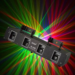 Wholesale Beam Laser Club Lighting - 4 Lens Red Green Blue Yellow 9 CH Beam Laser Light DMX Professional DJ Party Show Club Holiday Bar Stage Lighting