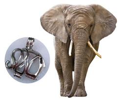 Wholesale Elephant Locket Pendant - 18kgp Elephant Style Pearl  Gem Beads Cage Lockets, Wish Pendant Mountings for DIY Fashion Lovely Jewelry Charms P5