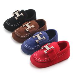 Canada Nouveau-né Garçons Classiques Beau Beau Premier Marcheurs Chaussures Bébé Infant Toddler Chaussures À Semelle Souple Sélection de 4 couleurs Offre