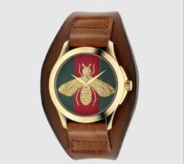 Wholesale Cheap Mens Watches Brands - Cheap Unisex Bee watches For men women Luxury brand Nylon Strap Quartz Wristwatches watch For mens ladies Girls Clocks relojes mujer