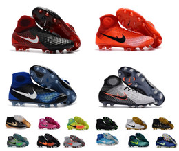 Wholesale Fabric Shoes Pattern - 2018 Free Shipping New Best Mens Women Kids 3D Magista Obra II FG AG Soccer Shoes Turf Soccer Cleats Football Boots Sneakers Shoes