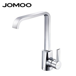 torneira cozinha kitchen Coupons - JOMOO Solid Brass Polish Chrome Kitchen Faucet Mixer Single Handle Single Hole Cold and Hot Torneira cozinha Square Shape 3341