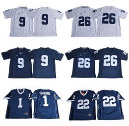 Wholesale big ten - NCAA Penn State Nittany Lions College Football 26 Saquon Barkley 1 Joe Paterno 9 Trace McSorley 22 Akeel Lynch BIG Ten Football Jerseys