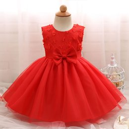 410aefee6 European and American hot new infant bow tie dress one year old baby full  moon dress skirt children s skirt one year old baby girl dresses on sale