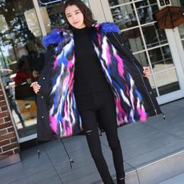 женские с длинными пальто Скидка New Fashion Women Winter Clothes Female Fur Collar with  Fur Liner The Long Padded Coat Faux Coat Hooded Overcoat