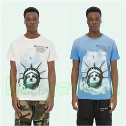 liberty print Coupons - 2018 summer hot mens The Statue of Liberty torch light printing t shirt tshirt casual T shirts mens Designer t shirts tops tee