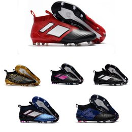 Wholesale Shoes Height Increasing Fashion Boots - 2018 New Fashion ACE 17+ Purecontrol FG Soccer Boots Cleats Football Men Designer Running Shoes Sneakers