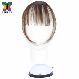 2019 sac shaggy falabella CHEVEUX SW Faux Longs Blunt Bangs Mini Clip-In Extension de Cheveux Synthétique Faux morceau Frange Clip Naturellement Transparent Sur Pour Femme
