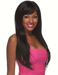 Wholesale Wig Long Black - Free Shipping Straight Lace Front Wigs Indian Human Hair Wigs Black Color Long Hair 8-24 Glueless Wigs With a Gift
