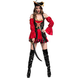 carnival costume designs UK - New High Quality Pirate Design Cosplay Costume For Women Fancy Dress For Halloween Carnival Party Show