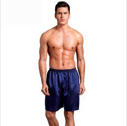d0780df4e7 Men Sexy Silk Satin Sleep Bottoms Solid Lounge Pants Soft Pijama Short  Summer Sleeping Shorts Home Pajama Pants Sleep