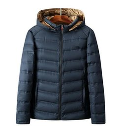 Wholesale North Down Jackets - 2017 autumn and North winter new boutique men's down jacket solid color men with a hat down jacket casual fashion wholesale
