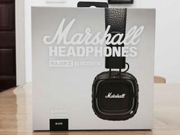 Wholesale Mp3 Generation - New Arrival Marshall Major II 2 2nd Generation Bluetooth Headphones Noise Cancelling Headset Deep Bass Studio Monitor Rock DJ HiFi headphone