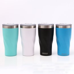Wholesale Car Color Personality - Stainless steel Cup 20oz Vacuum Insulation Mug Drinking Dining Bar Water Bottle car Cup With Lids TY7-409