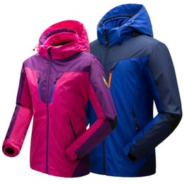 f41ba1f6875 Plus Size 2018 Vogue O Neck Men s Women s Winter Keep Warm Outdoor Sport  Coats Interchange jackets Thick Anorak Hot Windcheater discount outdoor  anoraks men