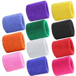 Las pulseras de tela de toalla de deportes gimnasio de fitness Swea tband Banda de la mano del sudor ayuda de muñeca Brace Wraps guarda para Gimnasio Voleibol Baloncesto desde fabricantes