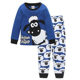 Wholesale Boys Pyjamas Cartoon - 2018 Children's Pajamas Set Baby Girl Boys Cartoon Casual Pijamas Kids Pyjamas Sleepwear Nightgown Homewear Boys Home Clothing