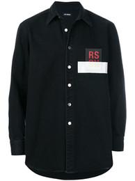 Wholesale Regular Show Jacket - RAF SIMMONS 17FW DENIM JACKET PVC TAPE ASAP ROCKY STYLE LOng Sleeve JACKET Catwalk Show Product