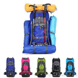 468ea79bf461 60L Outdoor bag Camping Hiking Backpack Large Nylon Frame Bag Waterproof  Men Sport Bags Climbing Travel Big Capacity Rucksacks