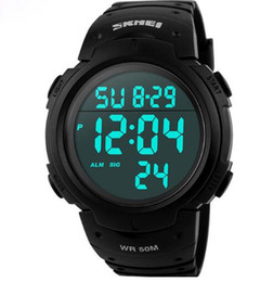 Wholesale Brands Electronics - Skmei Luxury Brand Mens Sports Watches Dive 50m Digital LED Military Watch Men Fashion Casual Electronics Wristwatches Hot Clock