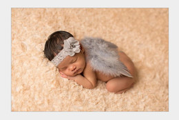 Wholesale Floral Photographs - Baby Accessories Babygirl Lace Hair band Headbands Wings Photograph props kids Hair accessory Photo costumes for children Retail