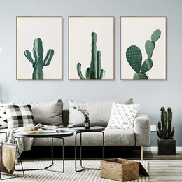 2019 moderne große blumenmalereien 2018 neue kaktus wandmalereien landschaft Kunst Leinwanddruck Malerei küche wohnzimmer Wandbilder Dekoration malerei