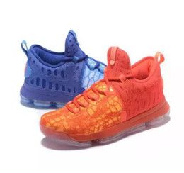 Wholesale Kd Shoes Mens - Mens KD 9 Fire & Ice Basketball Shoes