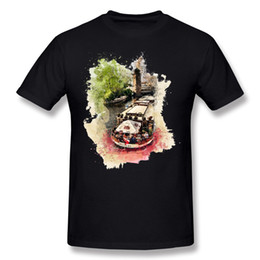 Bootshals-baumwollt-shirt online-Best Choice Herren 100 Baumwolle Prag Boot T-Shirt Herren Rundhals Weiß Kurzarm T-Shirt 3XL Normal T-Shirt