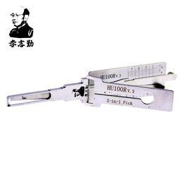 herramientas de selección segura Rebajas Original Lishi 2 en 1 HU100R Selector de bloqueo para el bloqueo de la ignición de la puerta Bloqueo y decodificación genuino utilizado para 2010 Nuevo BMW