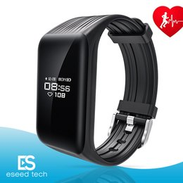 Wholesale Outdoor Activities For Kids - K1 Fitness Tracker Watch IP67 Waterproof Activity Continuous Heart Rate Monitor Step Calorie Bluetooth Wristband Bracelet Sports Smart Bands