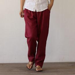 2019 le basi dell'arte pantalone 9104 pura ramie doppia linea aperta pantaloni modelli base femminili sciolto art letteraria fabbrica diretta pantaloni ragazza le basi dell'arte economici