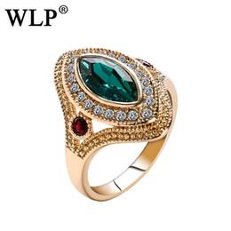 WLP ethnischen großen Ring Luxus blau rot alten Silber Schmuck Ringe für Frauen heiraten Ehering weibliche Teen Schmuck Geschenke von Fabrikanten