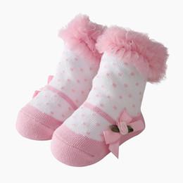 Meias de renda rosa on-line-0-24 M Meias Bebê Rosa Flor Rendas Meias Meninas Recém-nascidos Princesa Feriado Presentes de Aniversário para Meninas Moda Infantil Roupas