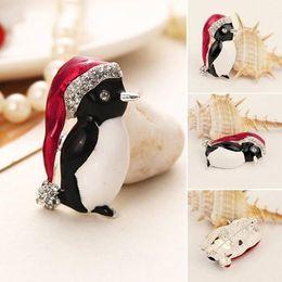 gift xmas Australia - Enamel Gorgeous Rhinestone Crystal Christmas Santa Snowman Pin Xmas Gifts