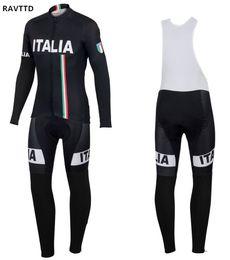 2020 ciclismo italia Pro Italia Winter Fleece 2018 Ciclismo Jersey Manga larga Racing MTB Bike Maillot Rock Racing Ropa Ropa Ciclismo ciclismo italia baratos